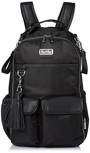 Itzy Ritzy Diaper Bag Backpack - Large Capacity Boss Backpack Diaper Bag Featuring Bottle Pockets, Changing Pad, Stroller Clips and Comfortable Backpack Straps, Black Herringbone