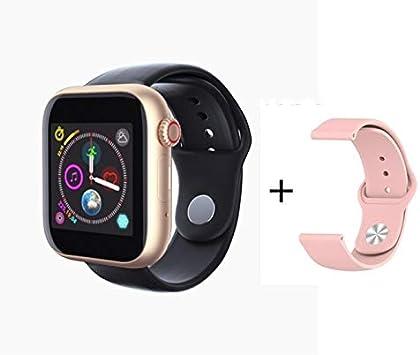 XINGPENGME 2020 Nieuwe Slimme Reloj Sim-Mapa El Bluetooth iOS Android Reloj Relojes Telefoon cámara Muziekspeler Deporte SmartWatch Iwo 10 12 PK F10 (Grootte : Add 8G Card, Kleur : Gold)