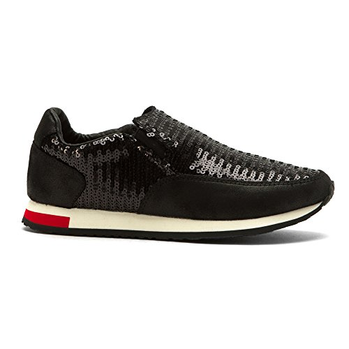 Black Sneakers Joy and Fashion Madera Women's Mario qx4YPSz