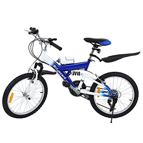 🥇 MuGuang Bicicleta de Montaña 20 Pulgadas Bicicleta Infantil 6 Speed Come with 500cc Kettle para Niños de 7 a 12 Años