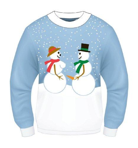 Forum Novelties Adult Snow Couple Ugly Christmas Sweater, Multi, Large