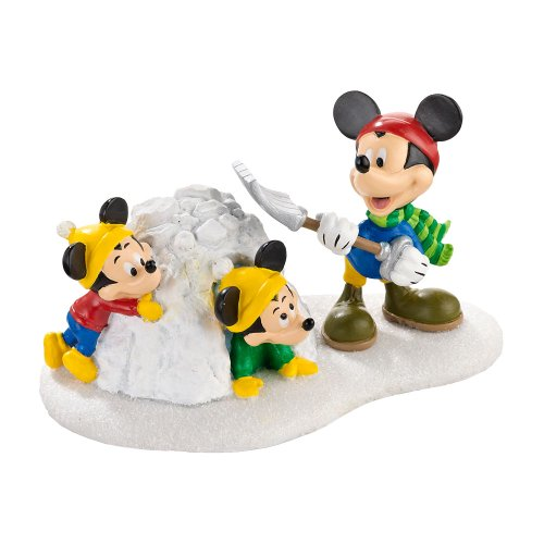 Department 56 Disney Village Snow Fort Fun Village Accessory, 2.25 inch - Christmas Village Collectibles