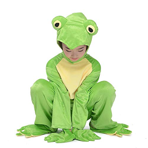 Leap Frog Costumes Halloween Animals Party Kids Fancy Dress Frog Prince Cosplay L