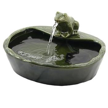 Sunnydaze Solar Water Fountain, Outdoor Garden Ceramic Frog Feature