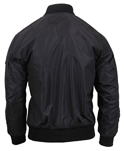 Rothco Lightweight MA-1 Flight Jacket, XXS, Black by Rothco