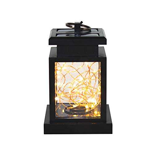 Solar Lanterns Outdoor Hanging,String Fairy Lights Outdoor Hanging ,Decoration Lighting Solar Powered Waterproof Umbrella Lanterns Night Light Auto Sensor for Garden Patio Pathway Yard ,Warm White (6) by ersamez