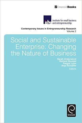 Buy Social and Sustainable Enterprise: Changing the Nature
