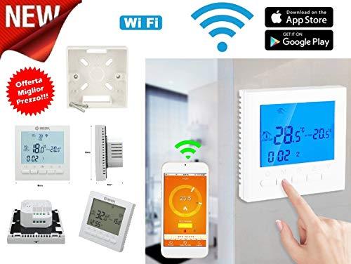 Cronotermostato WIFI Controllo remoto ONLINE TERMOSTATO SMARTPHONE APPLE IOS ANDROID CALDAIA GAS programmabile schermo… 1 spesavip
