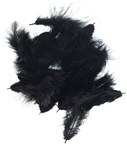 Zucker B103-BL Rooster Plumage Feather, 0.04-Ounce, Black