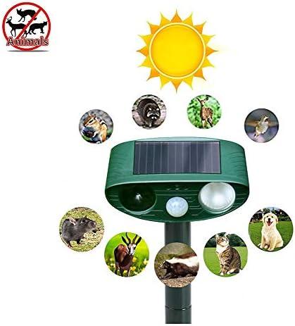 動物のリペラ、屋外ソーラーペストトラップ犬、猫のためのモーションセンサー赤点滅LEDライト防水ペラ、キツネ、鳥
