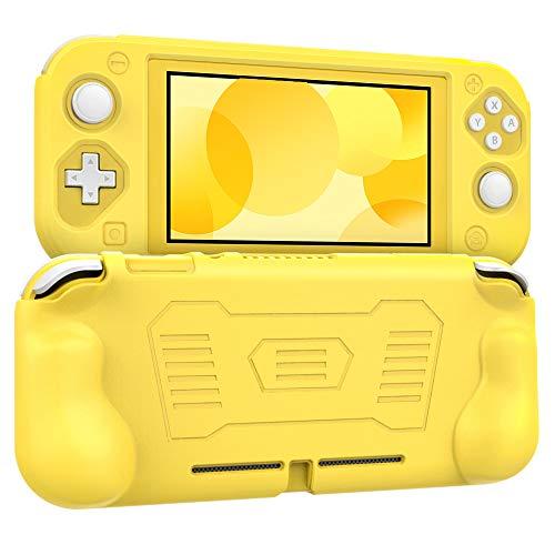 MoKo Grip Case for Nintendo Switch Lite, Anti-Collision Non-Slip Shockproof Silicone Case Cover Shell for Protecting Nintendo Switch Lite 2019 - Yellow