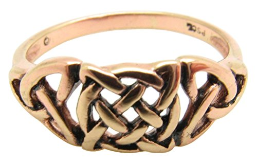 Solid copper Celtic Knot band Size 9 ring CTR1753 - 1/4 of an inch ()