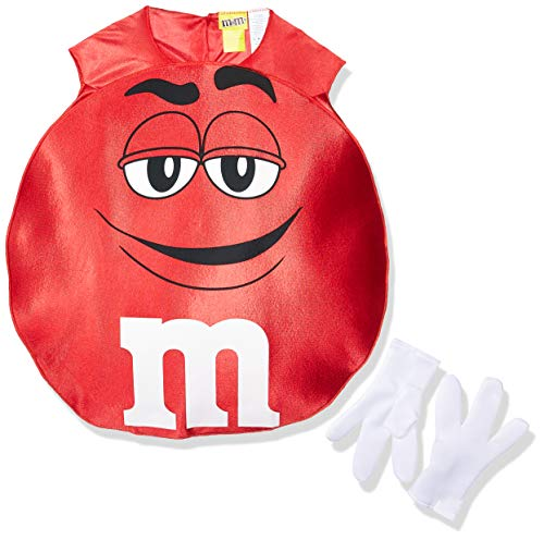 Green M And M Costume (Rasta Imposta M&M's Poncho, Red,)
