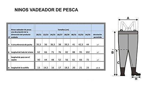 CHICOS 28//29 Kids Chest Waders LUCKY DUCKY COCHES // Gris NI/ÑOS vadeadores de pesca infantiles PRO