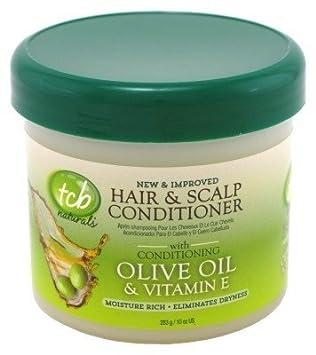 Tcb Naturals Hair Scalp Cond Olive Oil Vitamin-E 10oz Jar 3 Pack