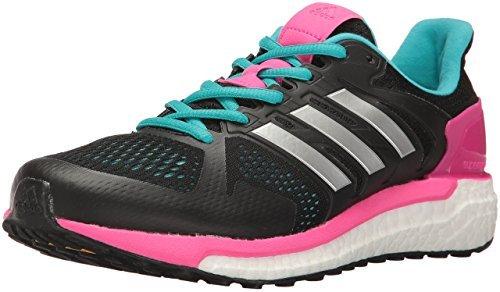 adidas Women's Supernova ST W Running Shoe, Black/Metallic/Silver/Shock Pink ()