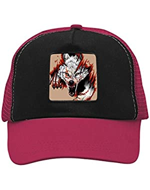 Unisex Blood Wolf Adjustable Classic Hiphop Hat Baseball Cap Snapback Dad Hat