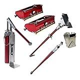 Drywall Finishing Tools Flat Box Set - LEVEL5 | 10'/ 12' Flat Boxes, Box Handle, and 3' Nail Spotter w/Handle