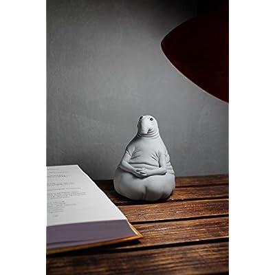 MATRYOSHKA&HANDICRAFT Zhdun Meme Homunculus Loxodontus Plaster Gypsum Sculpture Piggy Money Bank Moneybank Moneybox Waiting Awaiter Toy: Home & Kitchen