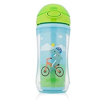 Dr. Browns TC01021 - Vaso con pajita para niño, color azul/verde