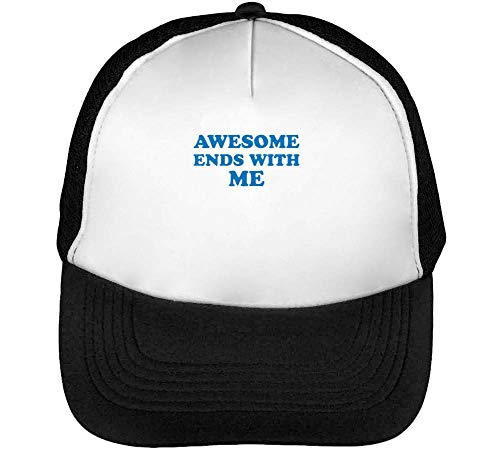 Awesome Ends Gorras Hombre Snapback Beisbol Negro Blanco