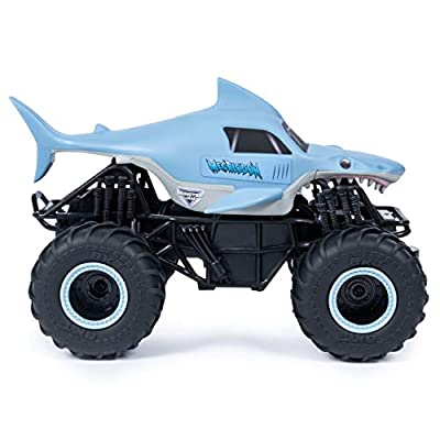 Monster Jam, Official Megalodon Remote Control Monster Truck, 1: 24 Scale, 2.4 Ghz, For Ages 4 & Up: Toys & Games