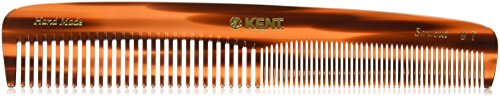 Kent – The Handmade Comb – Coarse and Fine Toothed Comb Sawcut 9T, Large, 192 mm