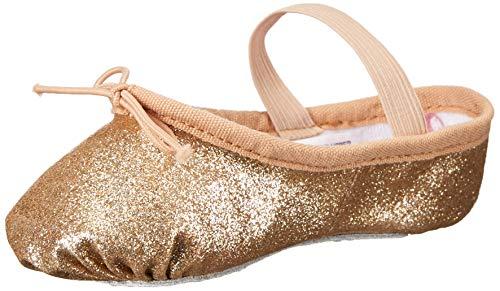 (Leo Girls' Glitterdust Dance Shoe Gold 12 C US Little)