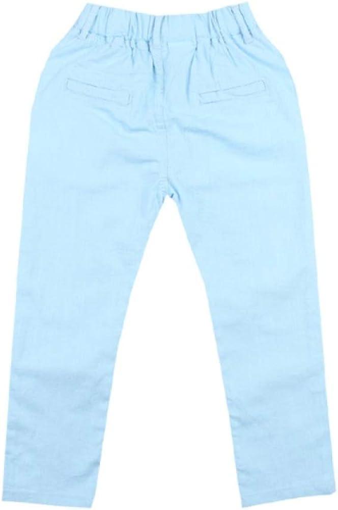 4-18T Gar/çons Pantalon Casual Coton Solide Pantalon Droit pour Gar/çons Taille /Élastique Enfants Gar/çon Pantalon 110-180