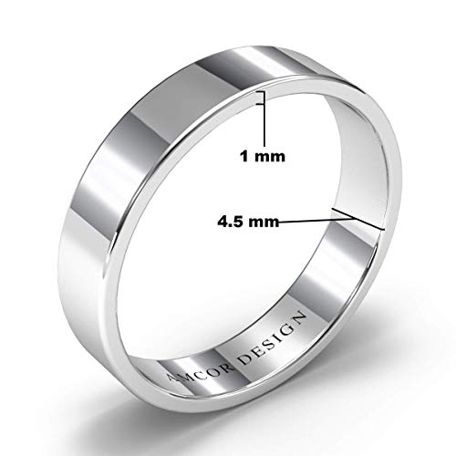 4 mm Wide Band Ring 925 Sterling Silver Plain band Ring Statement Ring Meditation Ring Promise Ring Anniversary Gift Band Ring