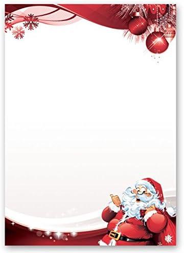 Papier à Motif à Lettres Noël Lettre Au Père Noël 20 Feuille