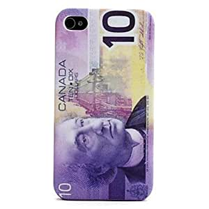 Canada Style PU Leather and Plastic Case for iPhone 4 and 4S