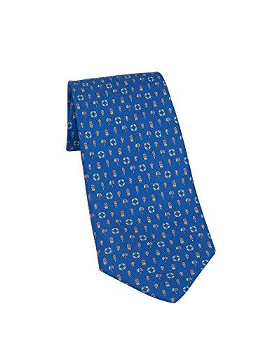 Salvatore Ferragamo Men's Blue Buoy and LifeSaver Silk Neck Tie by Salvatore Ferragamo