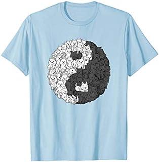Yin Yang Sweet Cat Dog SHIRT Love Cats and Dogs Women T-shirt | Size S - 5XL
