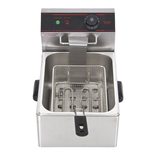 New 2500 Watt Commercial Electric Deep Fryer Restaurant