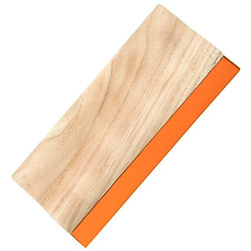 PP OPOUNT 13.7 inches Screen Printing Squeegee Wooden Ink Scraper for Screen Printing