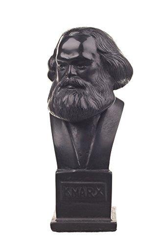 danila-souvenirs German Philosopher Socialist Karl Marx Stone Bust Statue Sculpture 4.9'' Black