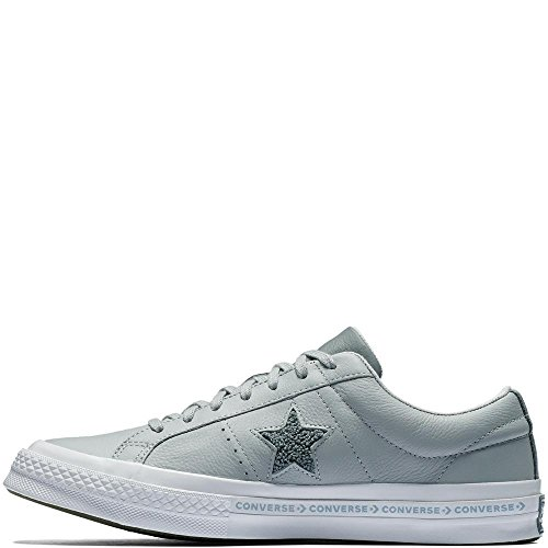 White Cool Unisex Grey Star Ox One Grey Converse Leather Wolf 097 Fitness Adults' Shoes Lifestyle Grey HABqxp61