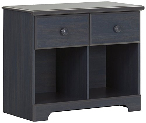 South Shore Summer Breeze 2-Drawer Double Nightstand, Blueberry by South Shore