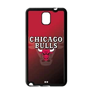 Chicago Bulls Team Logo Background Design for Samsung Galaxy Note 3 TPU Case-by Allthingsbasketball
