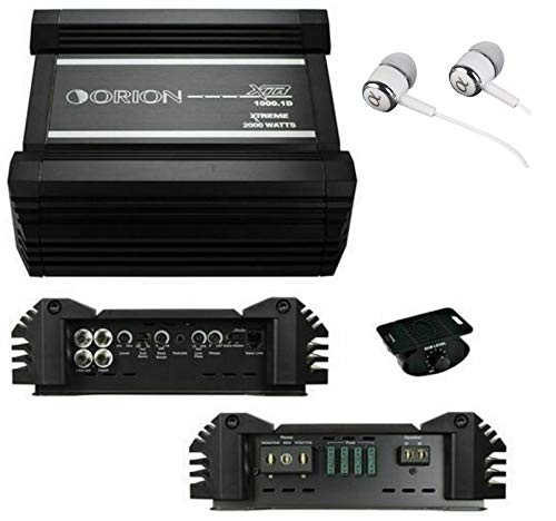 Orion XTR1000.1D 2000W Max Class D Monoblock XTR Series 1-Channel Car Audio Amplifier / FREE ALPHASONIK EARBUDS ()