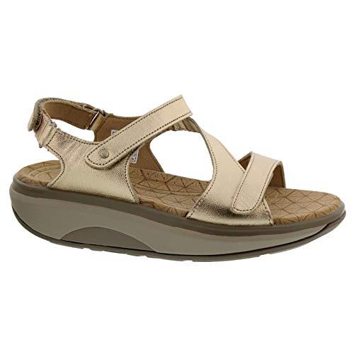 Joya Womens ID Jewel Champagne Leather Sandals 7.5 US ()