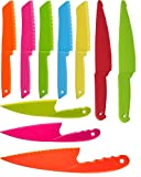Hapy Shop 10 Pieces Kid Plastic Kitchen Knife Set,Chef Nylon Knives Children's Safe Cooking Knives,Food Grade Plastic Baking Knives for Fruit, Bread, Cake, Lettuce Knife and Salad Knife