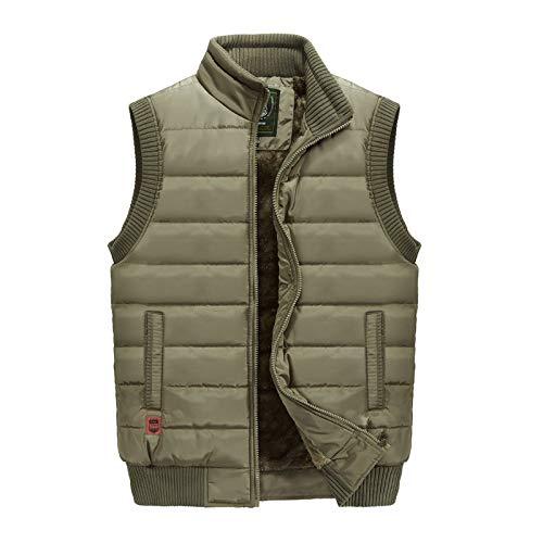 Gilet Vêtements Chaud Hommes Surdimensionné Veste D'hiver Pour Plus Gilets Débardeur Kaki Casual Velours De Travail c7TYaqwz
