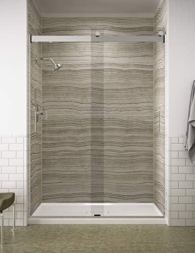 KOHLER K-706013-L-SHP 706013-L-SHP Shower Doors, Bright Polished Silver