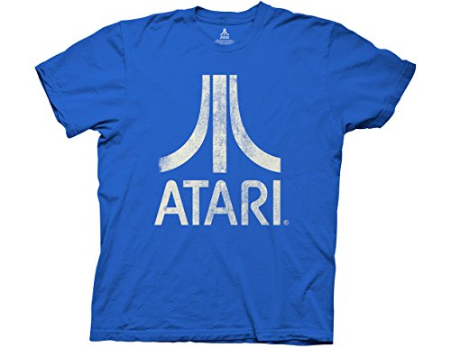 Ripple Junction Atari Classic Logo Adult T-Shirt Medium Royal Blue