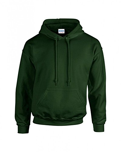 Gildan 18500 - Classic Fit Adult Hooded Sweatshirt Heavy Blend - First Quality - Forest Green - Small - Premium Hoodie Adult