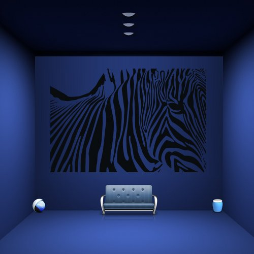 Wall Decal Zebra Horse Fragment Animal Striped Africa Pony Mural Bedroom (Pony Mural)