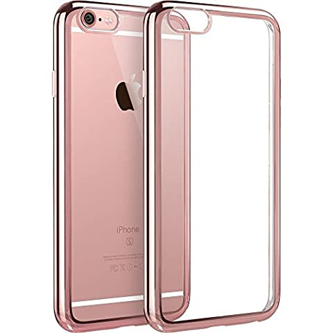 iPhone 6/6S Plus, Ultra Slim Hybrid Clear Back [Non-Slip, Strong Grip] Scratch Resistant [Shock Absorbing Bumper Case with Raised Edges] (Rose (Iphone 6 Speck Clear Case)