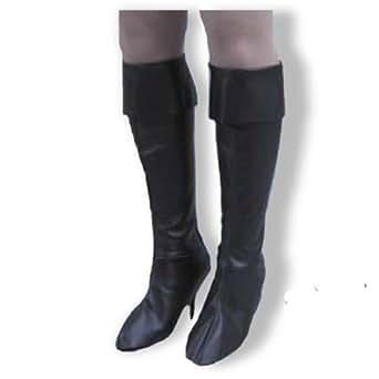 Charades Costumes Womens Pirate Girl Boot Tops Black Medium